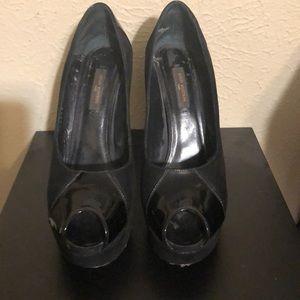 Louis Vuitton Black platform heels